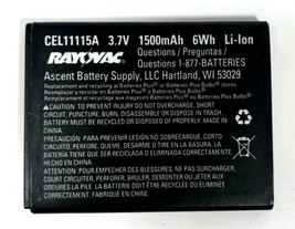 RAYOVAK CEL11115A Replacement Battery 1500mAh - $9.89