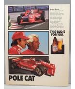 Vintage Revue Annonce Design Imprimé Publicité Bière Budweiser Bobby Rahal - $24.75