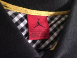 Vintage Air Jordan Youth XL Stretch Woven Top Black Red Striped image 4