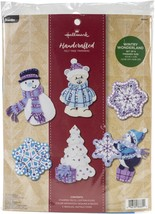 Bucilla Hallmark Felt Ornaments Applique Kit Set Of 6-Wintry Wonderland - $22.30