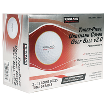 2021 KIRKLAND Signature V2.0 Three-Piece Urethane Cover 24 Golf Balls Ne... - $39.57