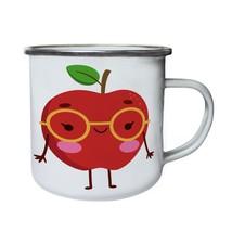 I Love Apple Smiley Funny Fruits New Retro,Tin, Enamel 10oz Mug b770e - $13.13