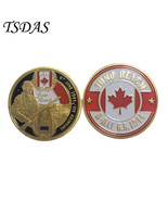 Gold Plated Coin D-DAY Infantry Division JUNO Beach Challenge Coin Metal... - €4,70 EUR