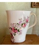 Royal Albert Lavender Rose Flat Coffee Mug Bone China Gold Trim - $19.99
