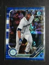 2019 Bowman Chrome BCP-31 Evan White Mariners Blue Shimmer Baseball Card 101/150 - $6.99