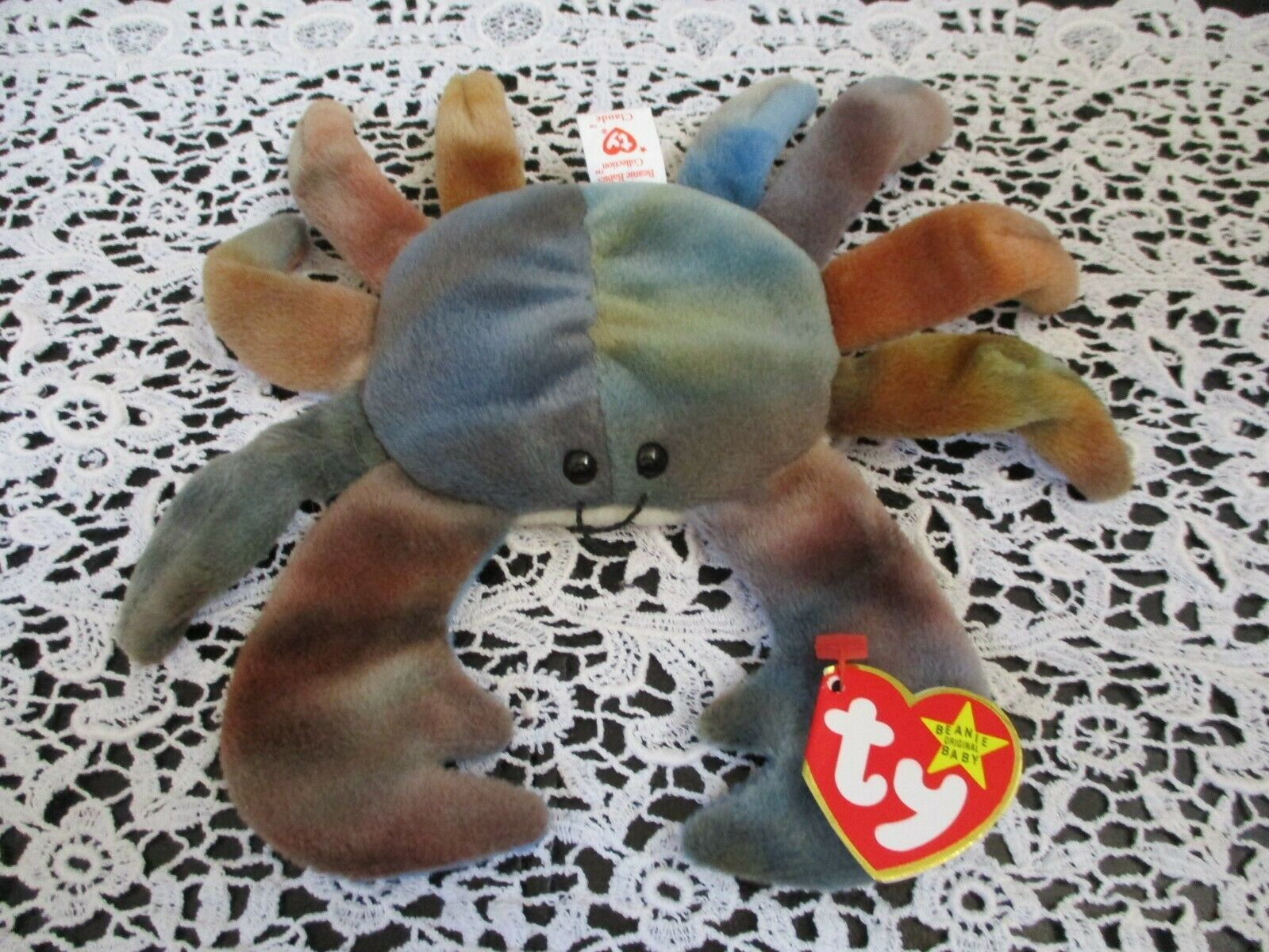 Primary image for Ty Beanie Baby Claude 1996 4th Generation Hang Tag/4th Generation Tush Tag PVC