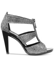 Michael Kors MK Women's Berkley T-Strap Glitter Chain Mesh Dress Sandals Shoes image 2