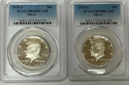 1976-S Kennedy Silver Half Dollar Proof PCGS PR69DCAM and PR70DCAM  (2 C... - $349.75