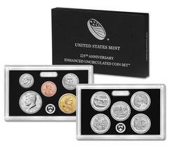 Lot of 6 2017 US Mint 225th Anniversary Enhanced Uncirculated Coin Sets Mint Box
