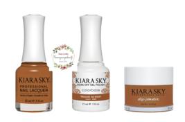 Kiara Sky Trio Set Gel 0.5 oz & Lacquer 0.5 oz & Dip 1 oz 543 Treasure T... - $26.99