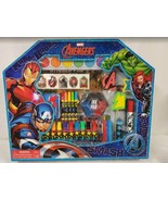 NEW SEALED Marvel Avengers Art Case w/ Paint Markers Stamps Stickers Cra... - $34.64