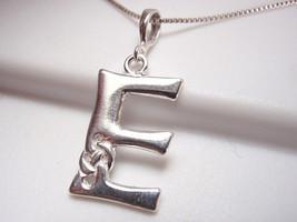 """Celtic Style Letter """"E"""" Pendant 925 Sterling Silver Corona Sun Jewelry e - $4.94"""