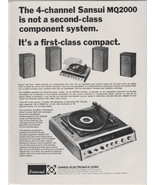 1972 Sansui MQ2000 Vintage print magazine advertisement - $14.00