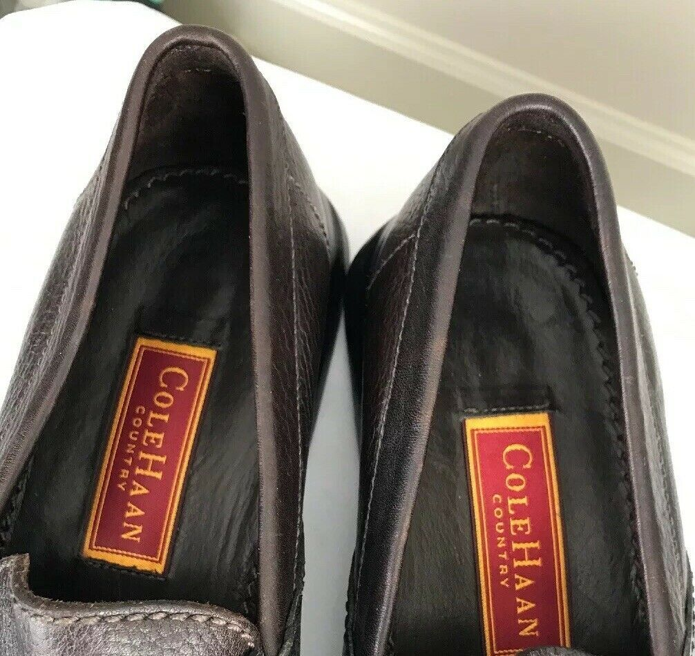 Cole Haan Men's Size 9M Country Brown Leather Loafers Driving Mocs Shoes image 7