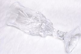 Vintage Collectible Heavy Clear Crystal Cut Lamp Style Candle Holder - $39.00