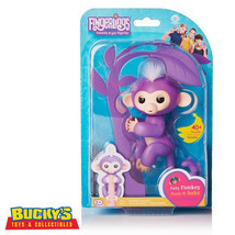 Fingerlings Mia Baby Monkey Interactive Toy  Purple Sound Motion Touch U... - $54.43