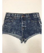 Forever 21 Women Blue Acid Wash Summer booty shorts 28 - $21.51