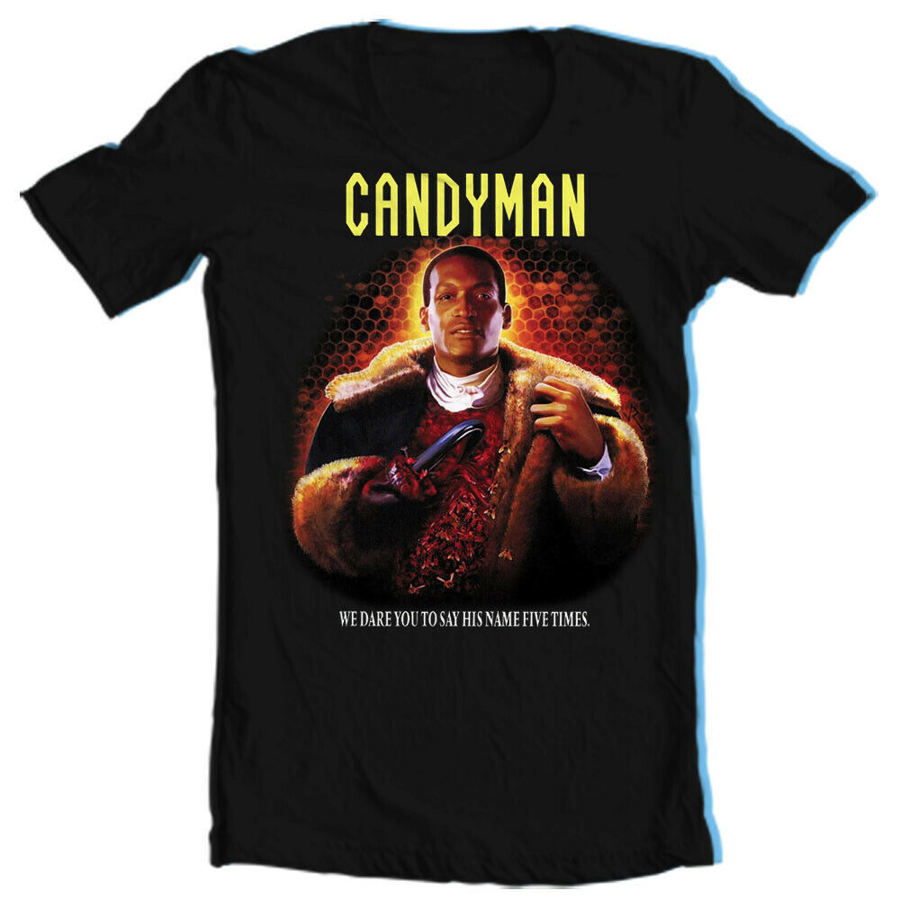 Candyman T Shirt retro Clive Barker slasher film horror movie graphic tee shirt