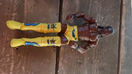 WWE Kofi Kingston Mattel Wrestling Figure Basic Battle Packs Yellow Gear - $9.50