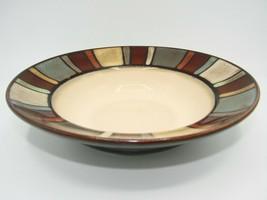 Pfaltzgraff NILE One 7 5/8in Soup/Cereal Bowl Multicolor Stripe Rim Sand Center - $9.49