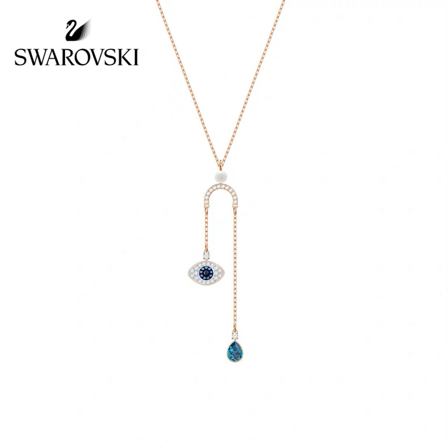 Swarovski DUO eye of the devil pendant crystal Necklace jewelry best gift