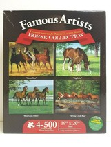 Cummings Weirs Horse Collection (4) 500 Pc Puzzles Equestrian Art Kids G... - $29.69