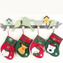 Christmas Stockings Socks Santa Claus Candy Gift Bag Xmas Tree Decor Fes... - $2.69