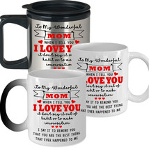 To my Mom I Love You- Best Novelty Funny Gift for Mom Mother's Day Coffee Mug - $14.20+