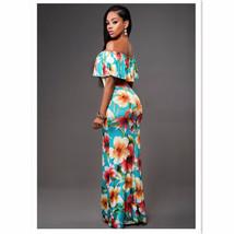 Ruffle Off Shoulder Maxi Dress At Bling Brides Bouquet Online Bridal Store image 6