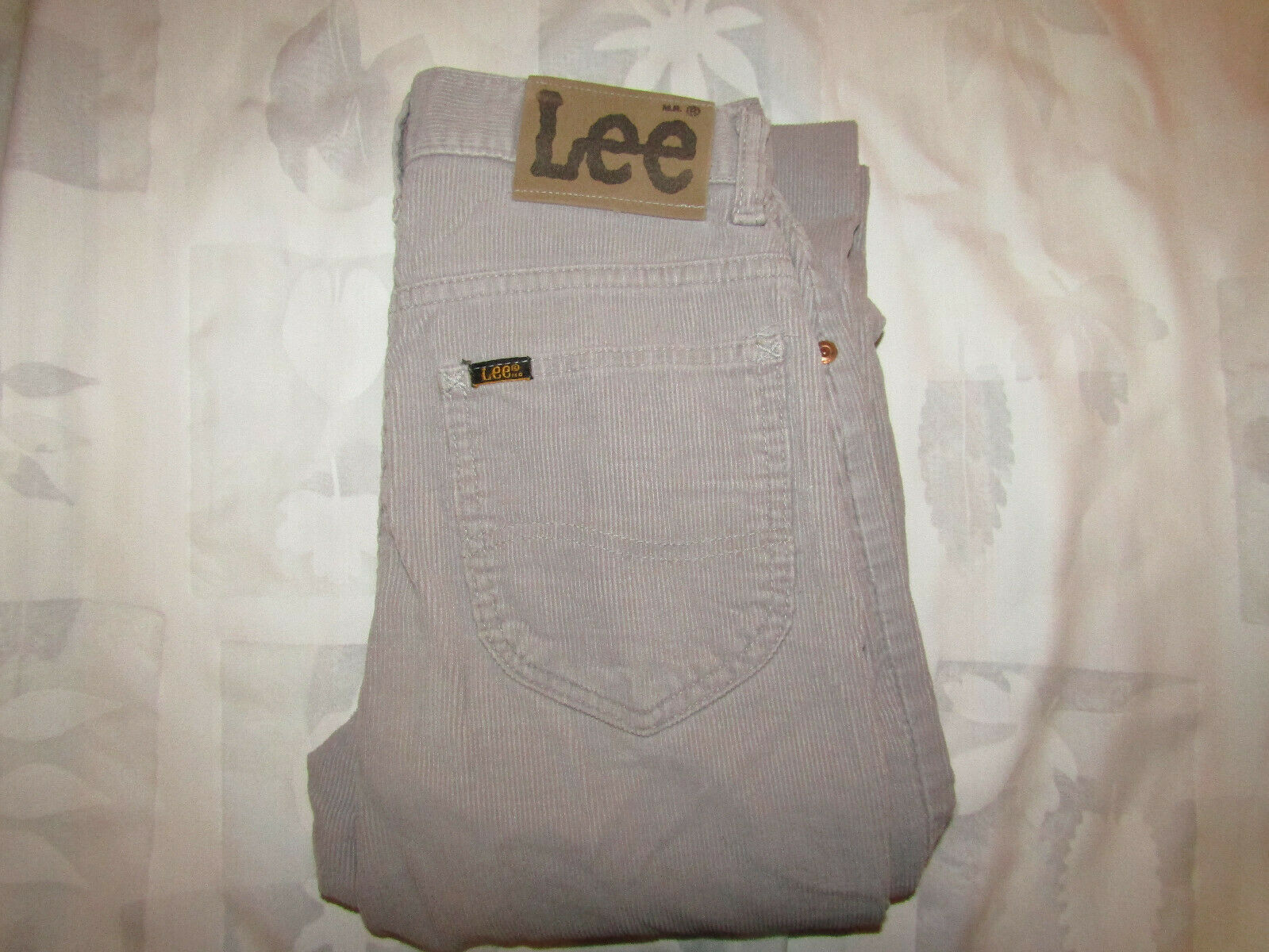 Primary image for Vintage Lee Riders 27 X 34 Mens Gray Corduroy Pants Made In USA 26 X 33