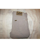Vintage Lee Riders 27 X 34 Mens Gray Corduroy Pants Made In USA 26 X 33 - $24.99