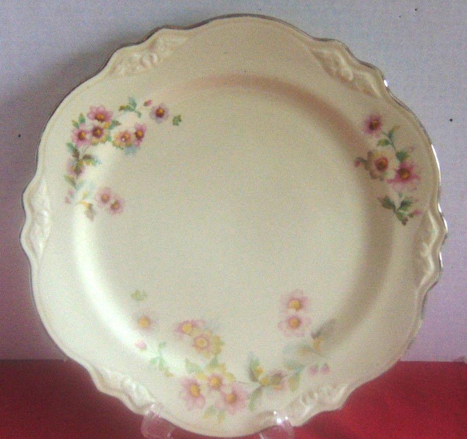 """Vintage Homer Laughlin Virginia Rose Plate 10""""-1956-22K Gold Trim"""