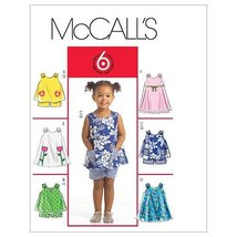McCall's Patterns M5416 Toddlers' Tops, Dresses and Shorts, All Sizes - $14.21
