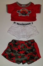 Build Bear Red Boat Shirt Gray Camo Shorts White Underwear Plush Clothes... - $15.79