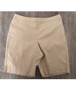 NWOT BOSTON PROPER sz 10 beige khaki cotton stretch flat front shorts - $19.79