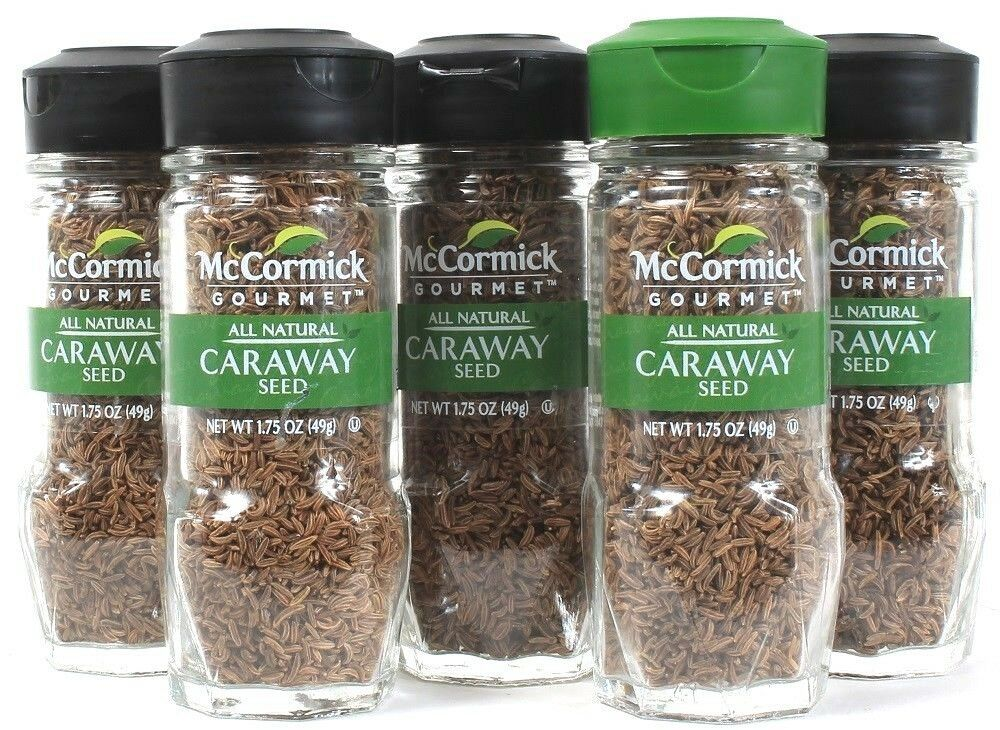 5 McCormick All Natural Caraway Seed Add Warm Biting Flavor Hearty Dishes 1.75oz - $29.99