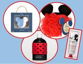 Mickey Mouse Deluxe Spa Set Bath Bomb, Bubble Bath, Bath Pouf and Lotion - $14.84