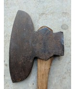 Antique Offset Head Hewing Broad axe Blacksmith Hand Forged Signed W 8 l... - $266.48