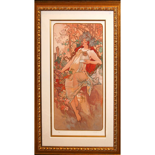 """""""AUTUMN"""" by ALPHONSE MUCHA, Print Signed and Numbered"""