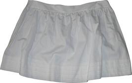 NWT ELIE TAHARI white mini skirt eyelet tiered hem 12 $215 cotton designer short - $77.59