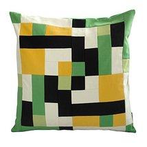 Black Temptation [Earth Surface] Handmade Canvas Decorative Pillow Unique Grid C - $38.50