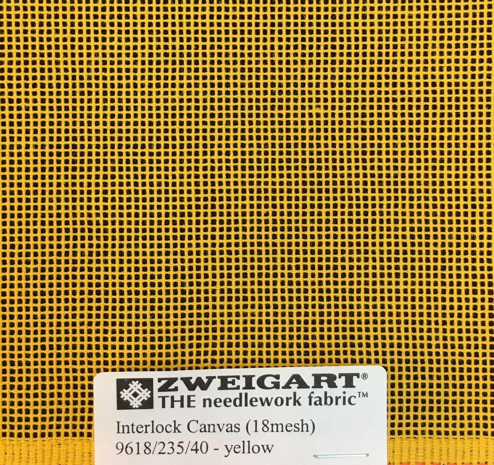 Interlock Needlepoint Canvas 18 Count Dark Yellow   Custom Cuts   Blank Canvas  - $7.13 - $28.40