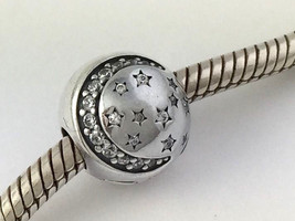 Authentic Pandora 925 Silver Twinkling Night Clip Lock Bead 791386CZ - $41.79