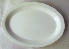 "Vintage Buffalo China Serving Tray White 9 x 13"" Heavy Restaurantware USA - $19.00"