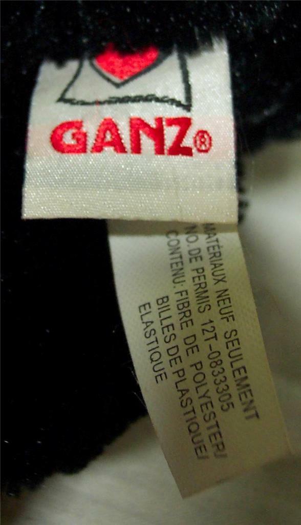 """GANZ Hug-A-Longs SOFT FLOPPY BLACK BEAR 16"""" Plush STUFFED ANIMAL Toy"""