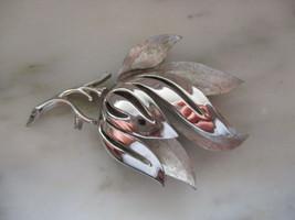 Vintage Trifari Silver Tone Leaf Pin or Brooch - $10.00