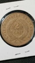 1870 Two Cent Piece Better Date Coin image 3