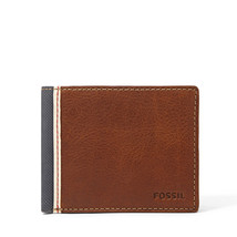 fossil man genuine leather wallet Elgin Traveler Wallet - $24.00