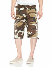 Men's Tactical Combat Military Army Cotton Twill Camo Cargo Shorts With Belt image 3
