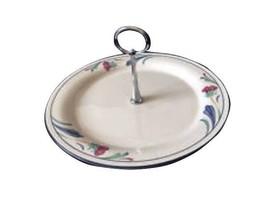 "Lenox Chinastone Poppies on Blue 10.25"" Center handle Sandwich Plate/Tray - $49.49"